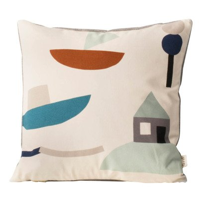 Ferm Living Kids Organic Cotton Seaside Cushion-listing