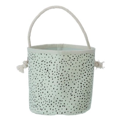 Ferm Living Kids Mini Green Polka Dot Basket-listing