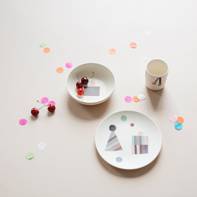 Ferm Living Kids Set vaisselle Party en bambou-listing