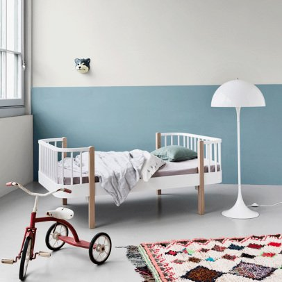 Oliver Furniture Wood Oak Junior Bed with Evolving Kit 90x160cm-listing