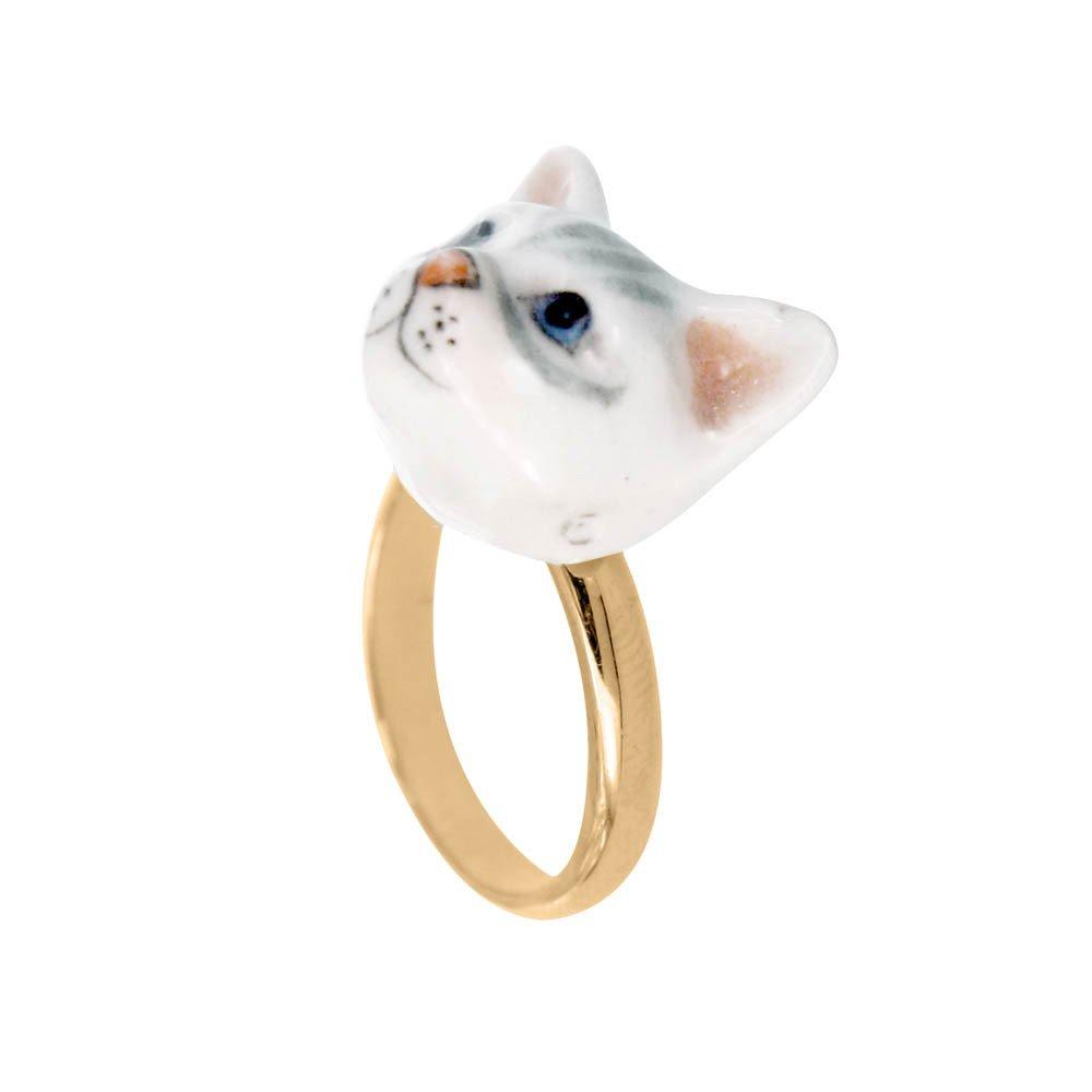 Le Mini-boucles D'oreilles De Bijoux En Porcelaine De Chat n4qRjz