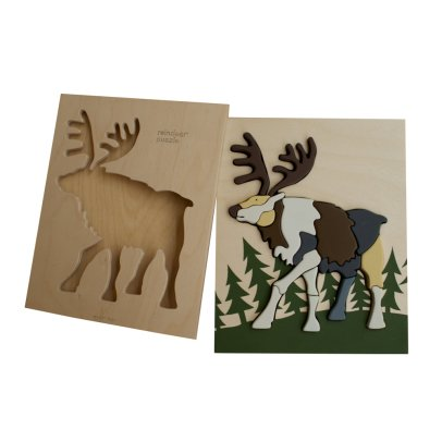 Eguchi Toys Multicoloured Reindeer Wooden Puzzle-listing