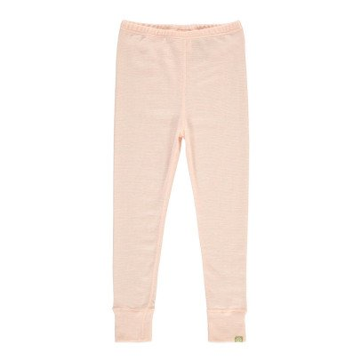 Nui Ribbed Organic Merino Wool Leggings Pale pink-listing
