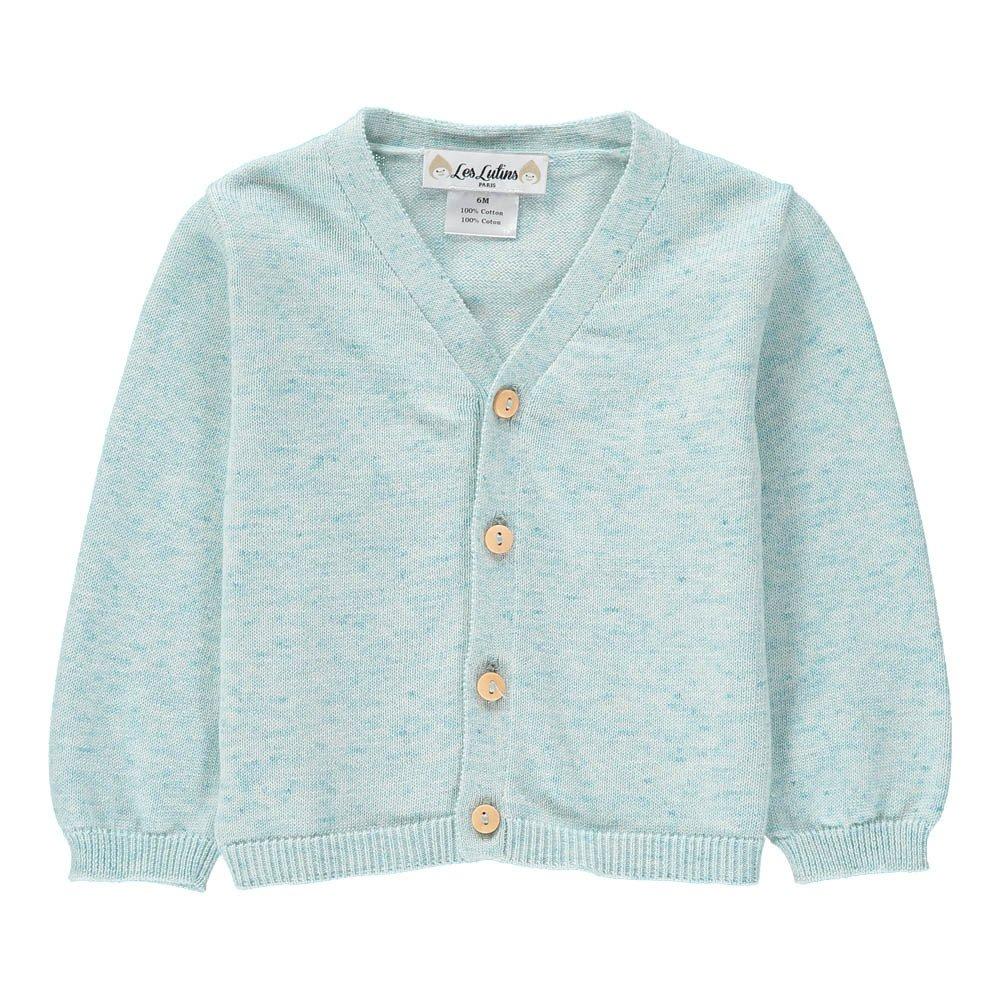 Arthur Jersey Cardigan Light blue Les lutins Fashion Baby