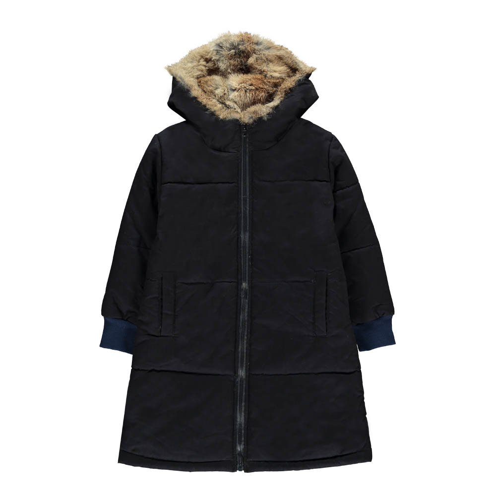 Lined Long Parka Navy blue Navy blue Noro Fashion Children