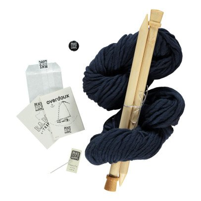 Peace and Wool Navy Blue Overdoux DIY Knitting Kit-listing