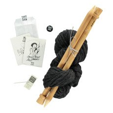product-Peace and Wool Black DIY Knitting Kit