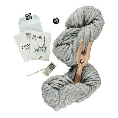 Peace and Wool Grey Lucette DIY Knitting Kit-listing