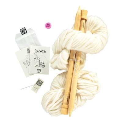 Peace and Wool White Snoothie DIY Snood Knitting Kit-listing