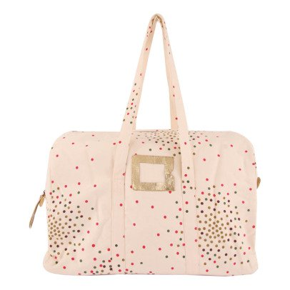 Polder Girl Sac Weekend 24H Pois Manuel Ecru-product