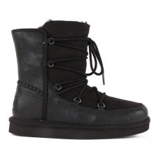 product-Ugg Eliss Leather Lace Boots Noir