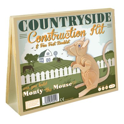 Professor Puzzle Naturel Monty Mouse Construction Kit-listing