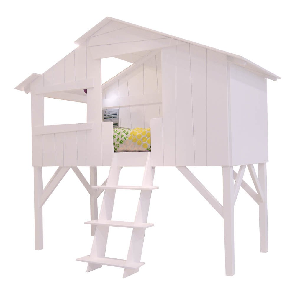 lit 90x190 cm cabane rose poudr mathy by bols design enfant. Black Bedroom Furniture Sets. Home Design Ideas