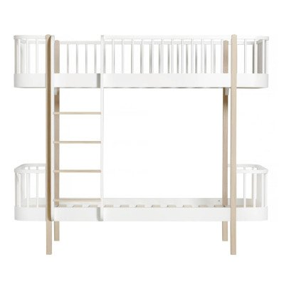 Oliver Furniture Oak Bunkbed Wood with Front Ladder 90x200cm-listing