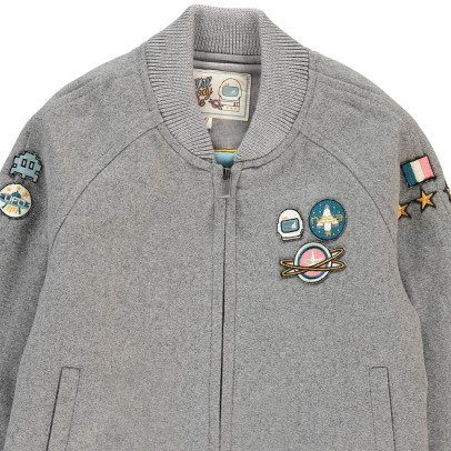 Will Woody Be Astronaut Patchwork Woollen Jacket-listing