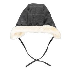 product-Noro Check Lined Russian Hat Dark grey