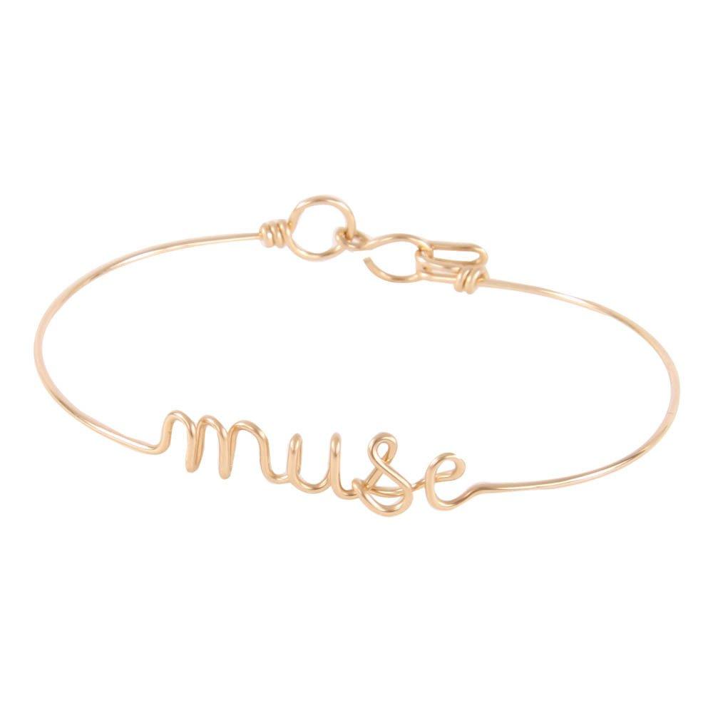 Happy Gold Plated Copper Wire Bracelet Atelier Paulin Z9FFn
