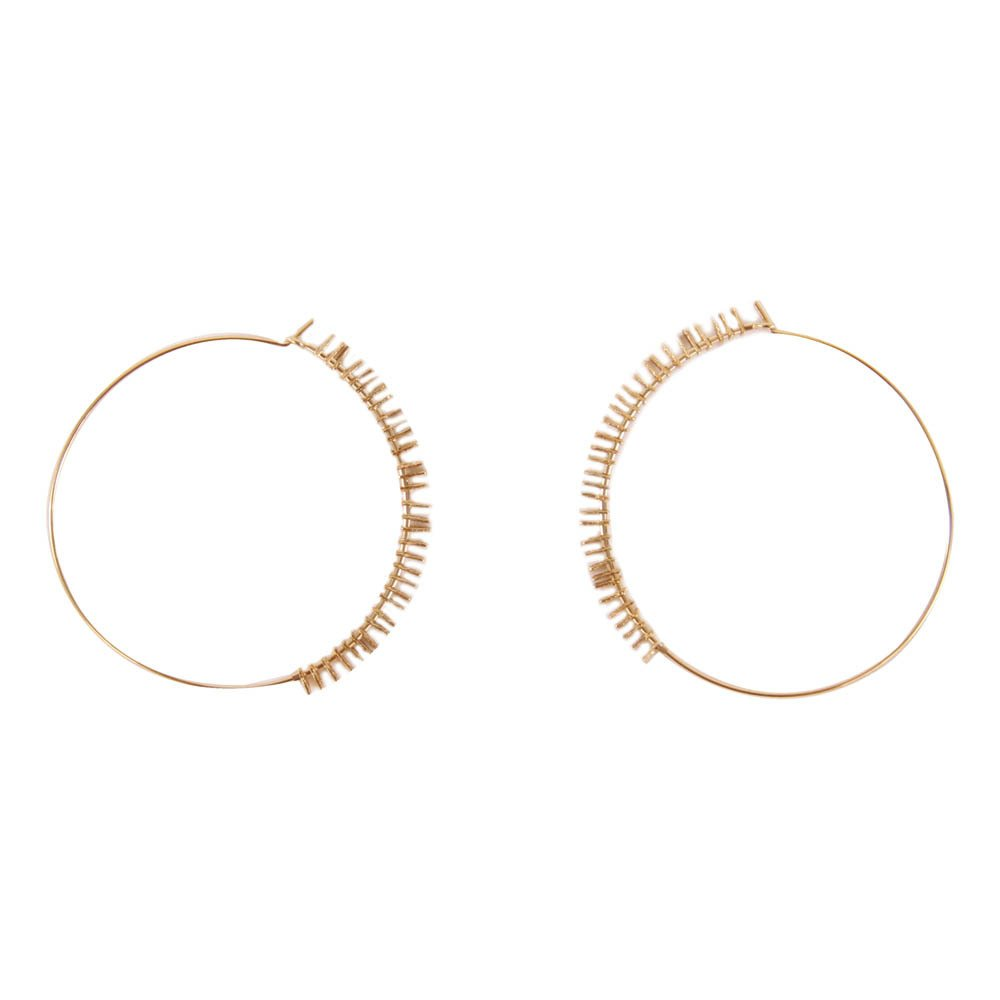 My Large Gold Over Silver Hoop Earrings Product