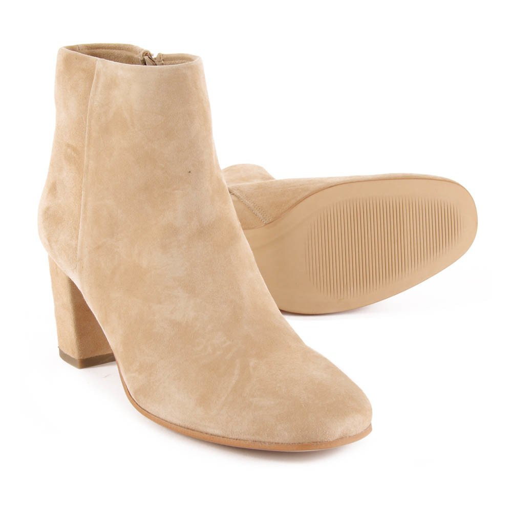 bottines talon swinging camel sessun chaussure adolescent ,