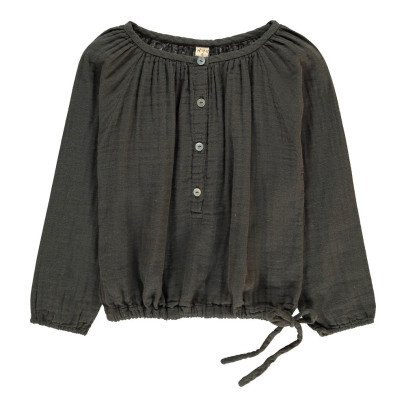 Numero 74 Naia Long Sleeve Blouse Charcoal grey-listing