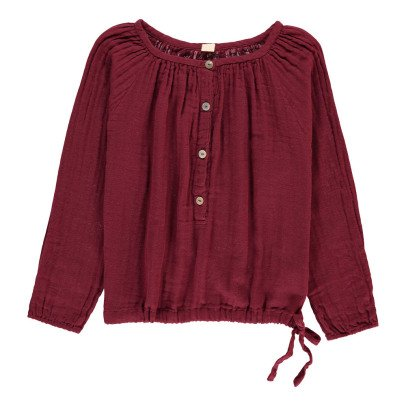 Numero 74 Naia Long Sleeve Blouse Raspberry red-listing