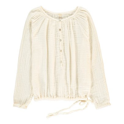 Numero 74 Naia Long Sleeve Blouse - Teen and Women's Collection Off white-listing