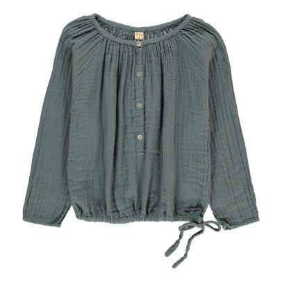 Numero 74 Naia Long Sleeve Blouse Grey blue-listing