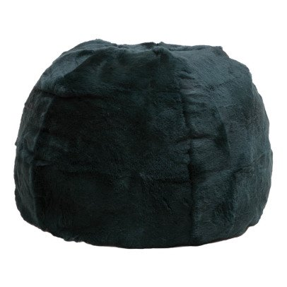 pouf stool ch ne et laiton velours bleu canard red edition. Black Bedroom Furniture Sets. Home Design Ideas