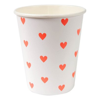 Meri Meri Heart Paper Cups - Set of 8-listing