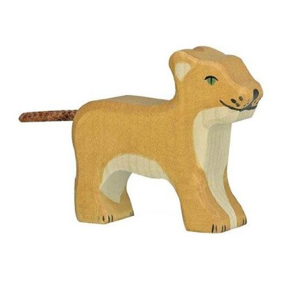 Holztiger Small Wooden Lion Figurine-listing