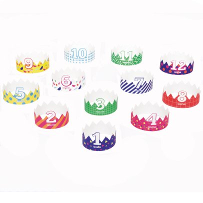 DOIY Paper Baby Crowns - Set of 12-listing
