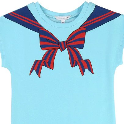 Little Marc Jacobs Sailor Collar Trompe L'œil Fleece Dress-listing