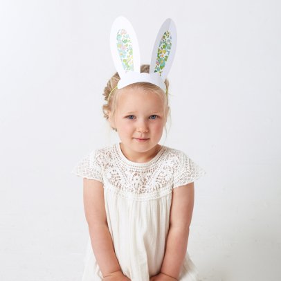 Meri Meri Flower Paper Rabbit Ears - Set of 8-listing