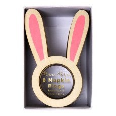 product-Meri Meri Rabbit Round Serviettes - Set of 8