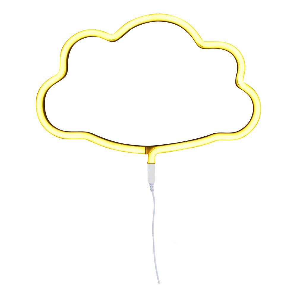 lampe n on nuage jaune a little lovely company design enfant. Black Bedroom Furniture Sets. Home Design Ideas