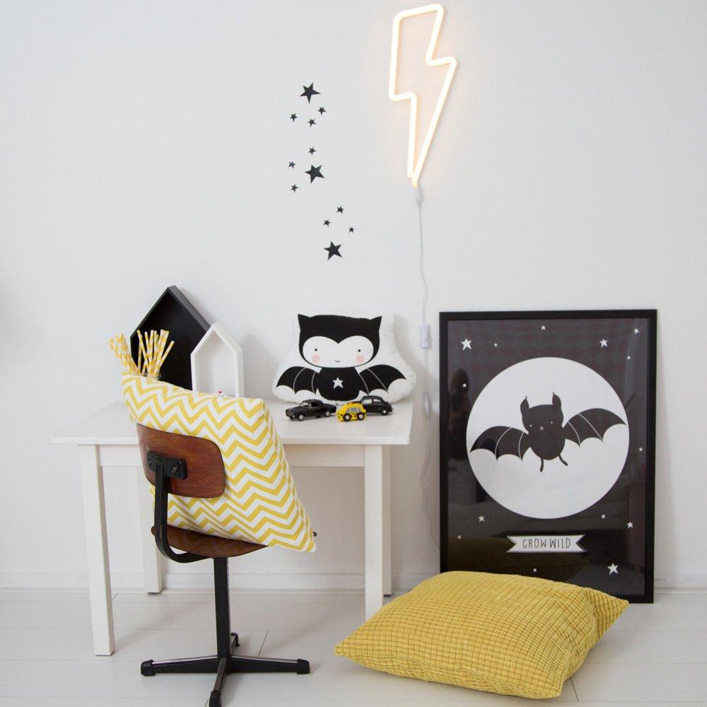 lampe n on eclair jaune a little lovely company design enfant. Black Bedroom Furniture Sets. Home Design Ideas