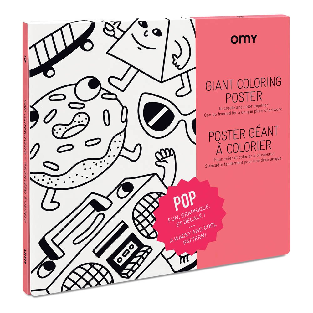 Pop Giant Colouring Poster White Omy Toys and Hobbies Children