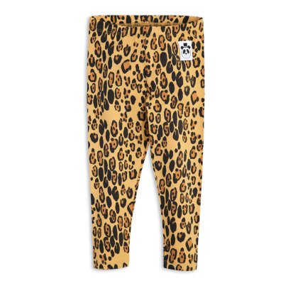 Mini Rodini Organic Cotton Leopard Leggings-listing