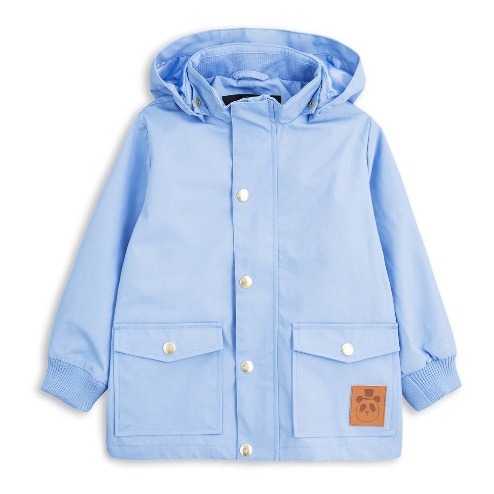 Waterproof Hooded Parka Light blue Mini Rodini Fashion Children