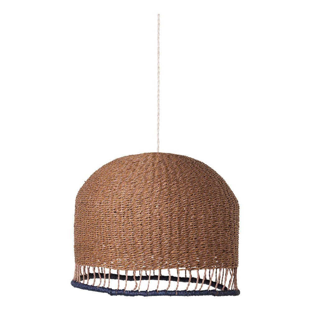 Suspension en osier naturel ferm living kids design enfant for Suspension osier design