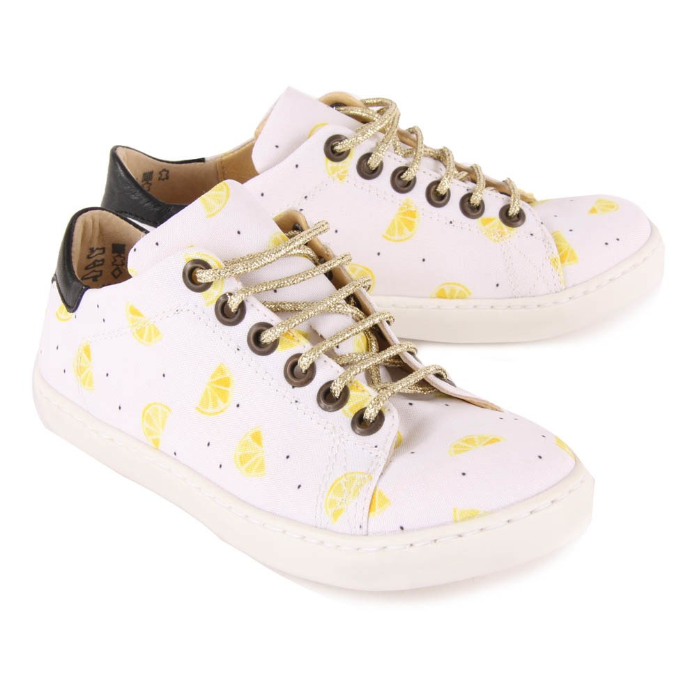 Martin Lurex Lace-Up Polka Dot Trainers-product