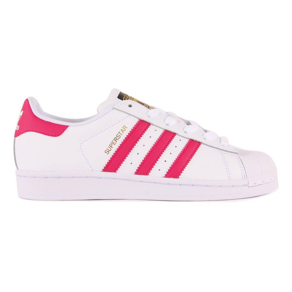 adidas superstar rose et blanche lacet