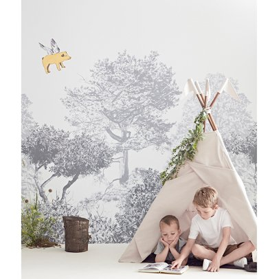 papier peint nuages de coton vert d 39 eau bartsch design enfant. Black Bedroom Furniture Sets. Home Design Ideas