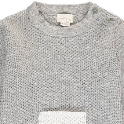 BABY ALPAGA Galipette Baby Alpaca Jumper With Contrasting Pocket-listing