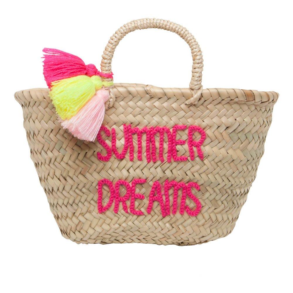 panier pompon brod summer dreams naturel rose in april design. Black Bedroom Furniture Sets. Home Design Ideas