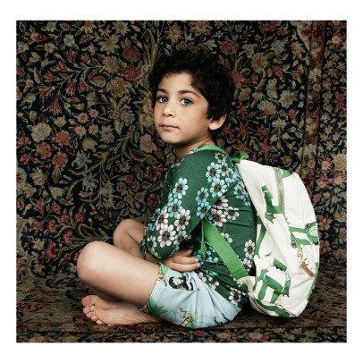 Mini Rodini Organic Cotton Frog Backpack-listing