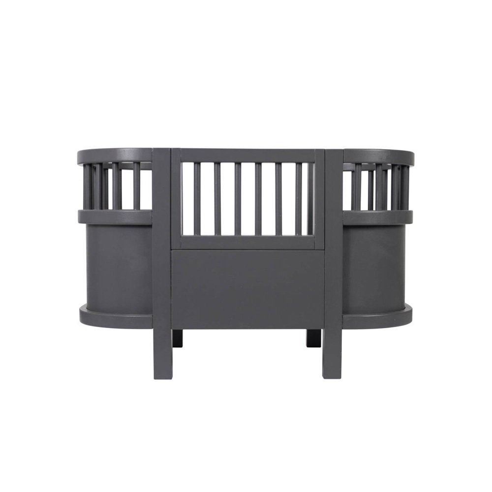 lit pour poup e en bois gris sebra jouet et loisir enfant. Black Bedroom Furniture Sets. Home Design Ideas