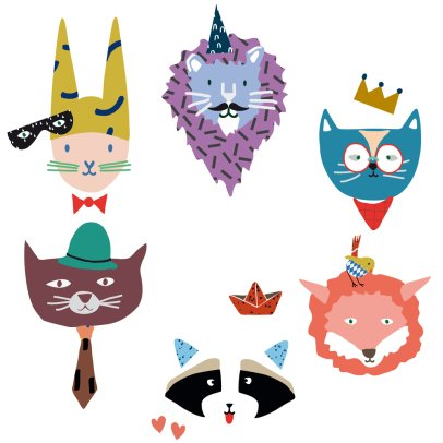 MIMI'lou Animal Party Stickers-listing