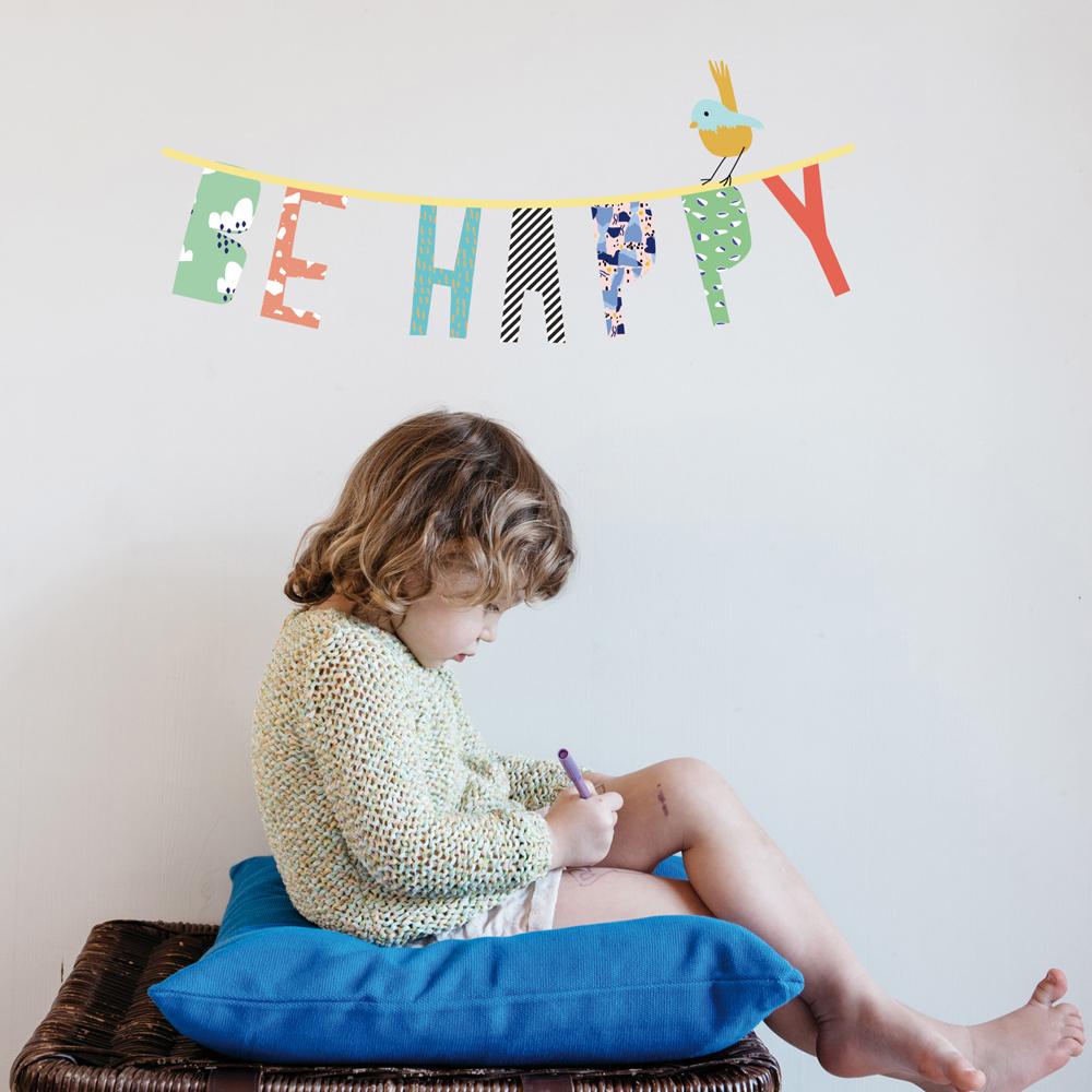 lámina infantil Be Happy