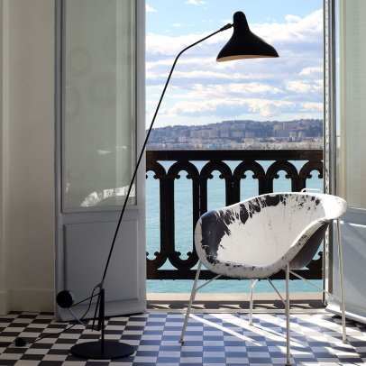 DCW Editions Lampadaire BS1 avec base ronde-listing